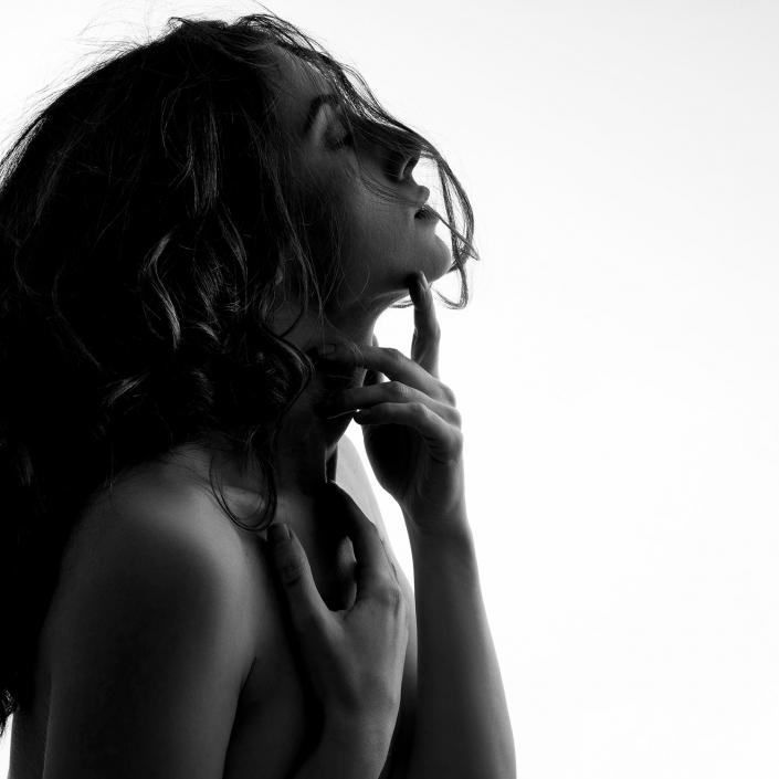erotisches schwarzweiß Foto