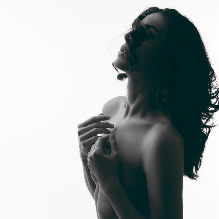 schwarzweiss Aktfoto